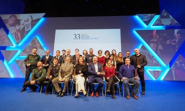 Gala de los 33 Importantes,  premios a la excelencia