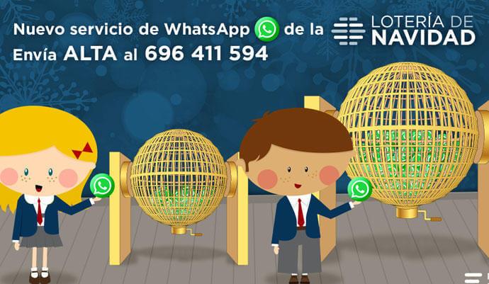 El Gordo de la Lotería de Navidad por WhatsApp y laloterianavidad.com