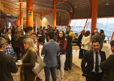 Momento de networking en CityHub Málaga