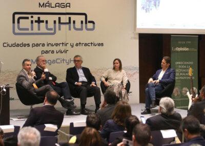 Una de las mesas redondas de CityHub Málaga