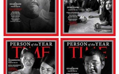 Los periodistas perseguidos, personas del año para la Revista Time