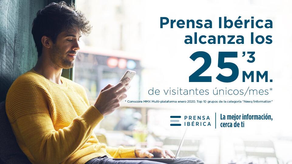 Prensa Ibérica supera los 25 millones de visitantes únicos al mes