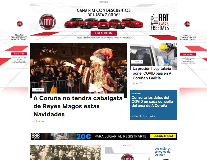 La Opinión A Coruña renueva por completo su edición web con un diseño más moderno y atractivo